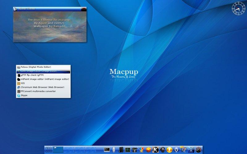 MPBlue6 screen